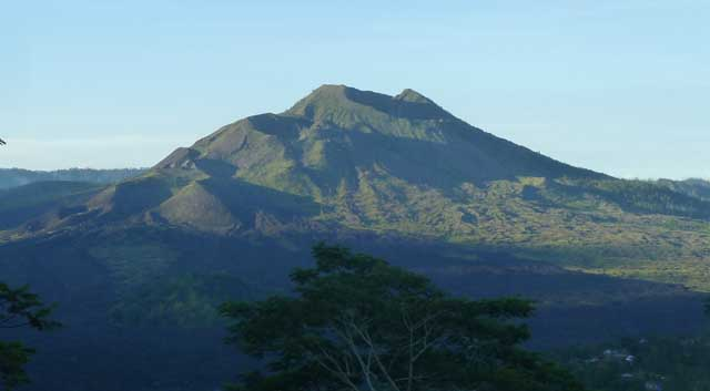 Mt. Batur seen from the rim of the caldera