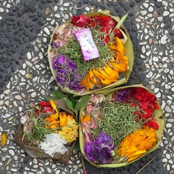 Typical offering set on pavement