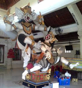 This ogoh-ogoh stands about 10 feet tall