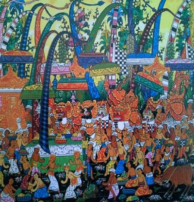 An example of traditional Balinese painting